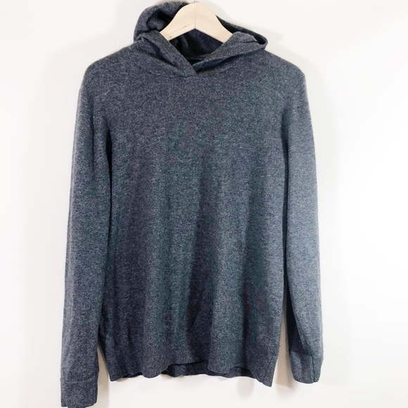 Everlane Tops - Everlane Gray Cashmere Pullover Hoodie